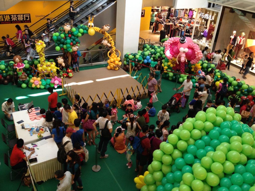 Shopping Mall Balloons Event