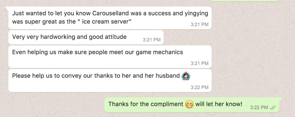 Testimonial Carroselland