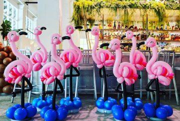 Balloon Flamingo Sculpture Decoration