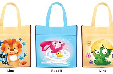Party tote bag painting activity