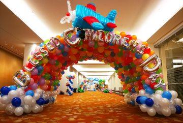 Rainbow Balloon Tunnel Decoration