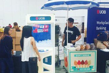 UOB Claw Catcher and Ice Cream Cart