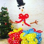 Balloon Snowman Sculpture 1