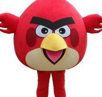 Angsty Bird Mascot Costume Rental