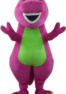 Purple Dino Mascot Costume Rental