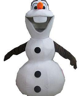 Snowman Mascot Costume Rental