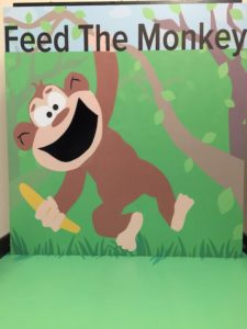 Feed the Monkey carnival game stall rental