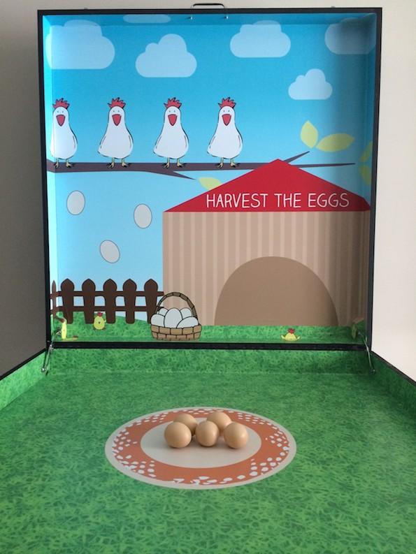 Harvest the Eggs carnival game stall rental