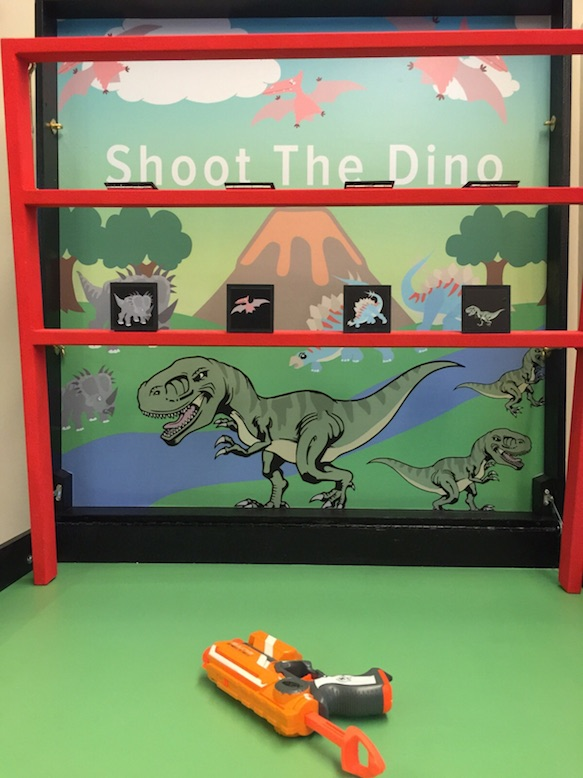Shoot the dino carnival game stall rental