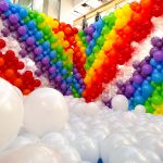 Balloon Clouds and Rainbow