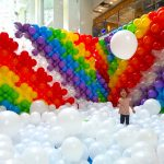 Clouds and Rainbow Balloons