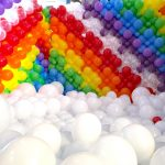 Rainbow Balloon Pit for Hire