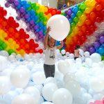 Rainbow Balloon Pit in Singapore