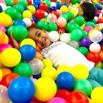 giant ball pit in mall