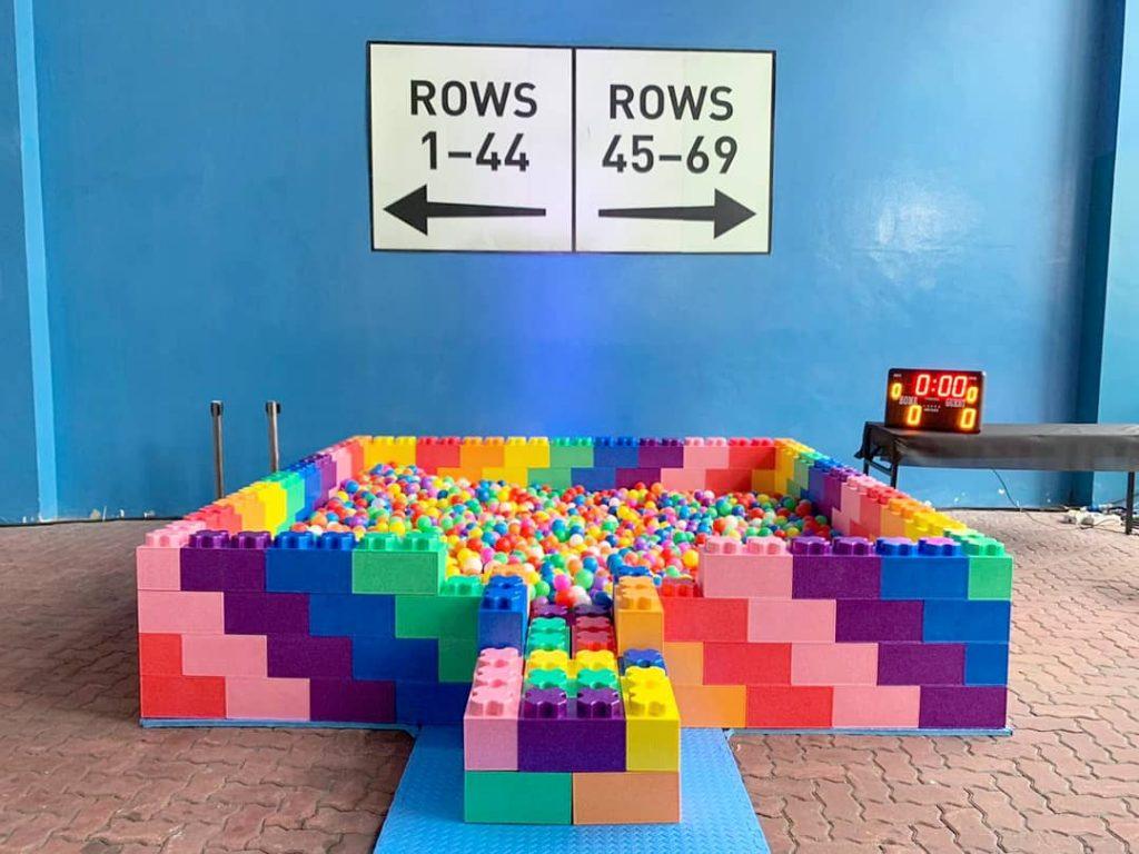 3m by 3m Rainbow Ball Pit Rental