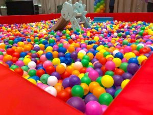 Rainbow Ball Pit with Slide Rental