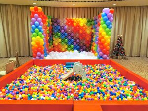 Rainbow Balloon Pit and Ball Pit