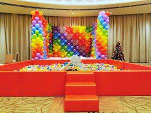 Rainbow Balloon and Ball Pit Rental