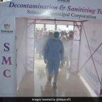 Customised Disinfectant Misting Gate