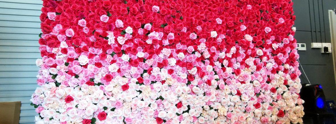 Wedding Flower Wall Backdrop Rental Singapore
