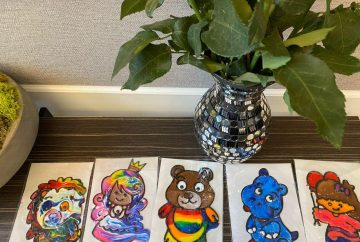 Window Art station for kids