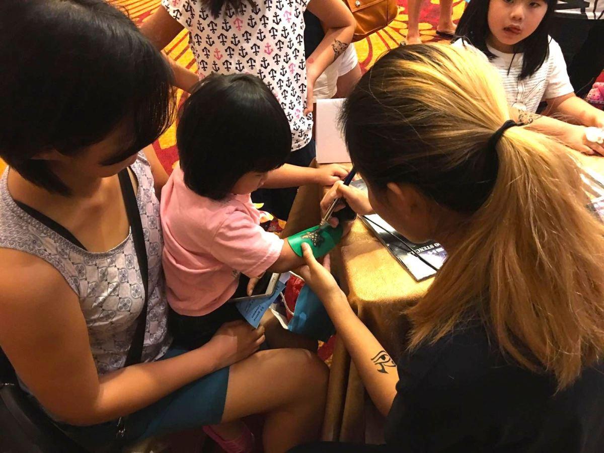 Airbrush Tattoo Acitivity Singapore