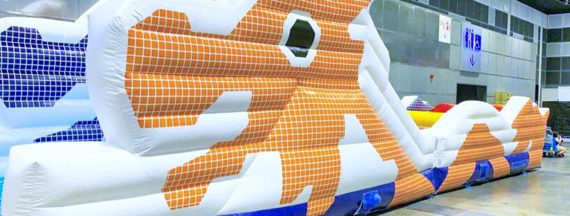 Inflatable dragon playground 1
