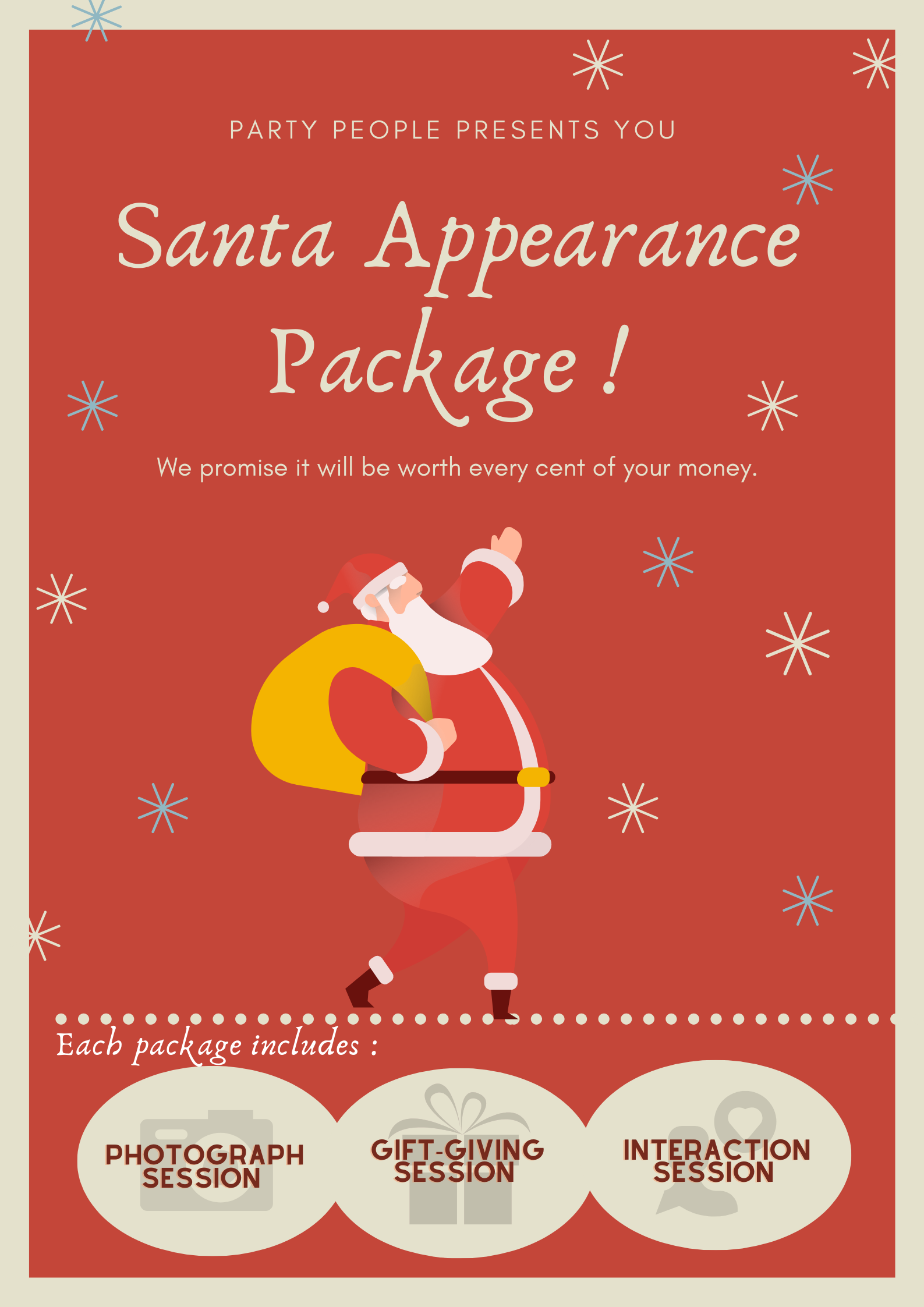 Santa Claus Appearance for Hire