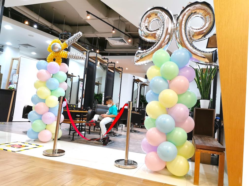 customised balloon column