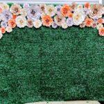 Fantasy Paper Flower Wall Backdrop Rental