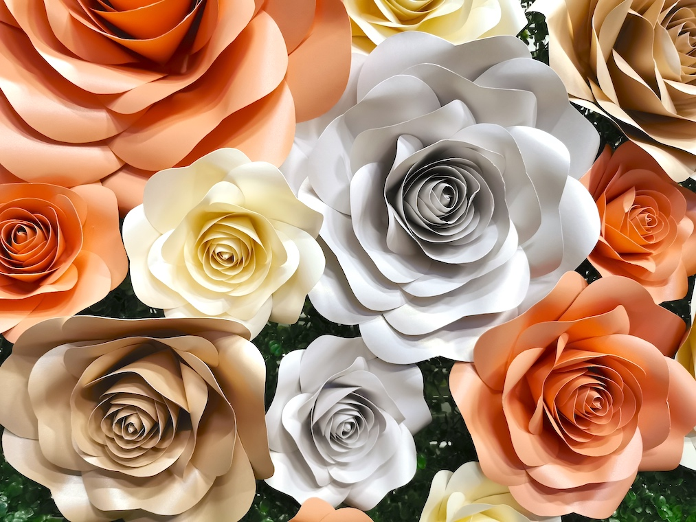 Paper Flower Wall Backdrop for Sale
