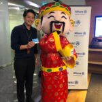 Chinese New Year Cai shen ye mascot for corporate event