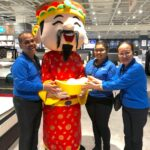 Chinese New Year Cai shen ye mascot for events