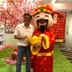 God of fortunes mascot for rental CNY