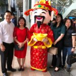 Roving cny mascot in singapore