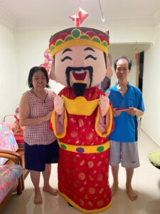 Cai Shen Ye Mascot Costume singapore