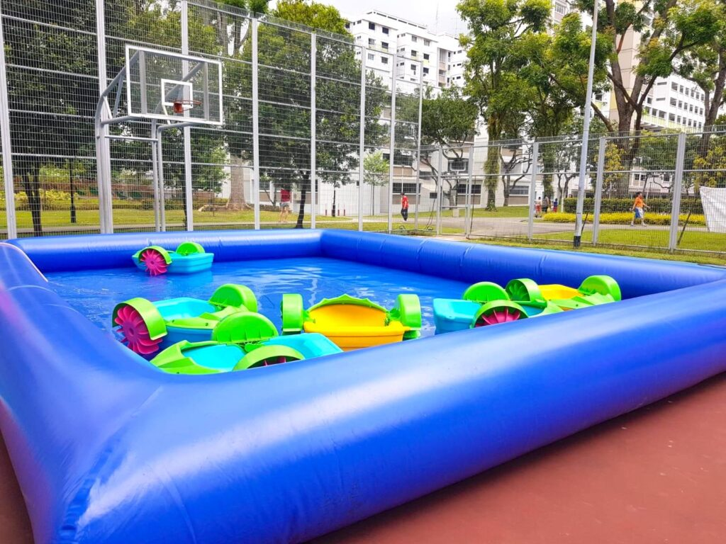 Inflatable Pool with Paddle Boat Rental