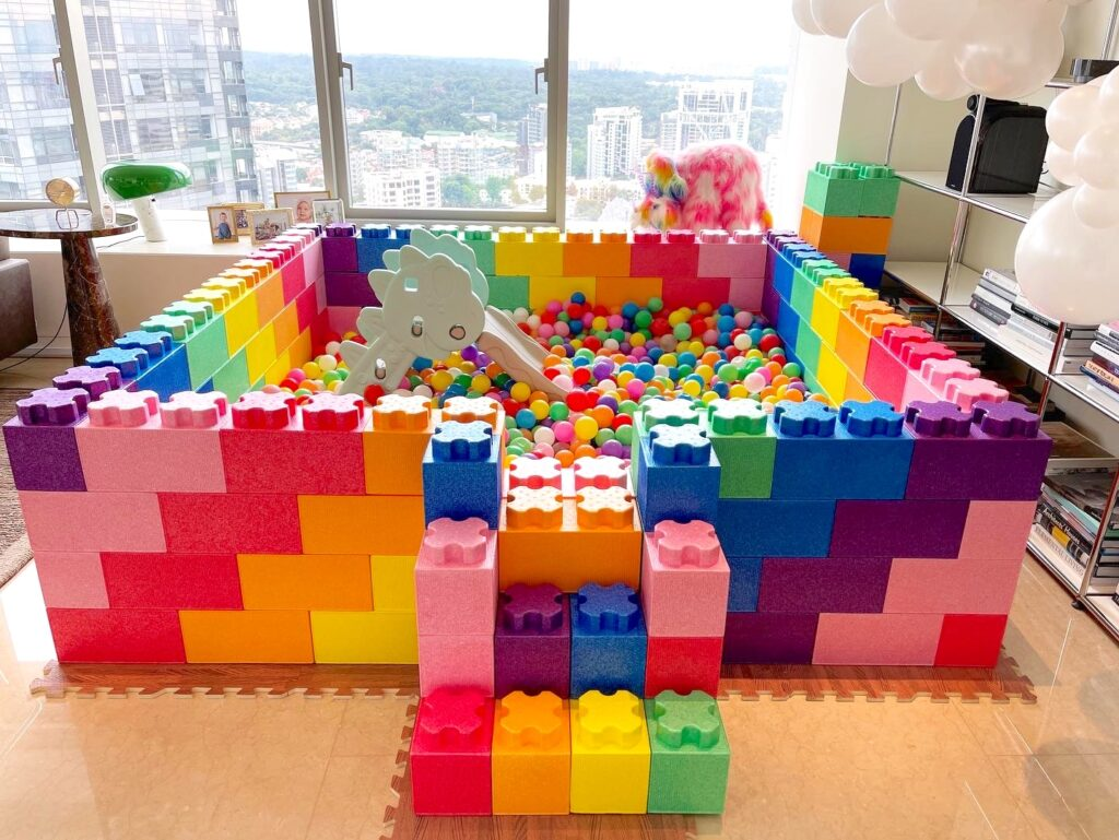Rainbow ball pit for rent