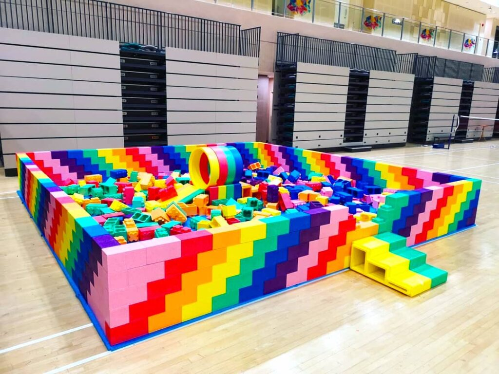 Giant Lego Bricks Playground