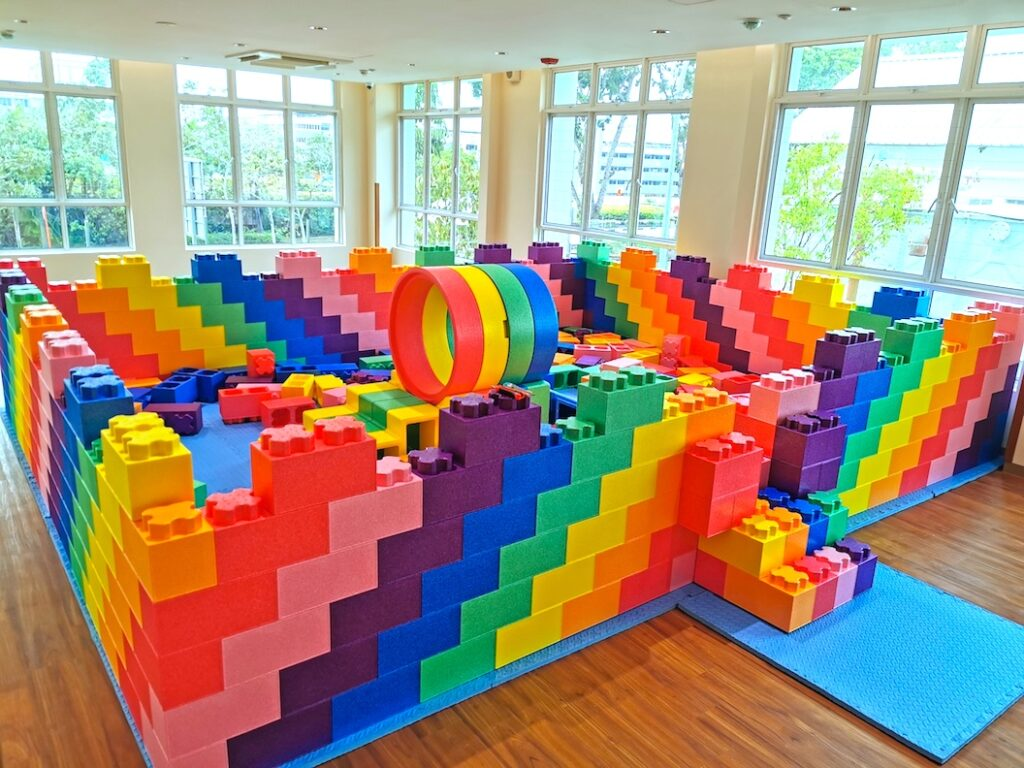 Rainbow Lego Brick Pit